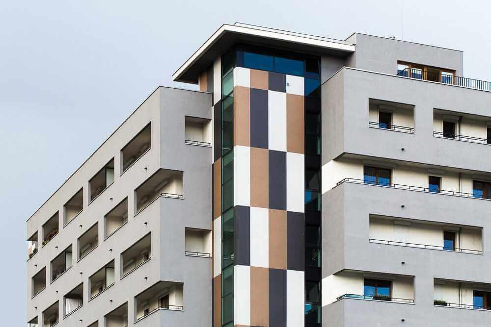 Porcel Nico Para Fachadas Gran Formato | Edificio De Viviendas Polonia