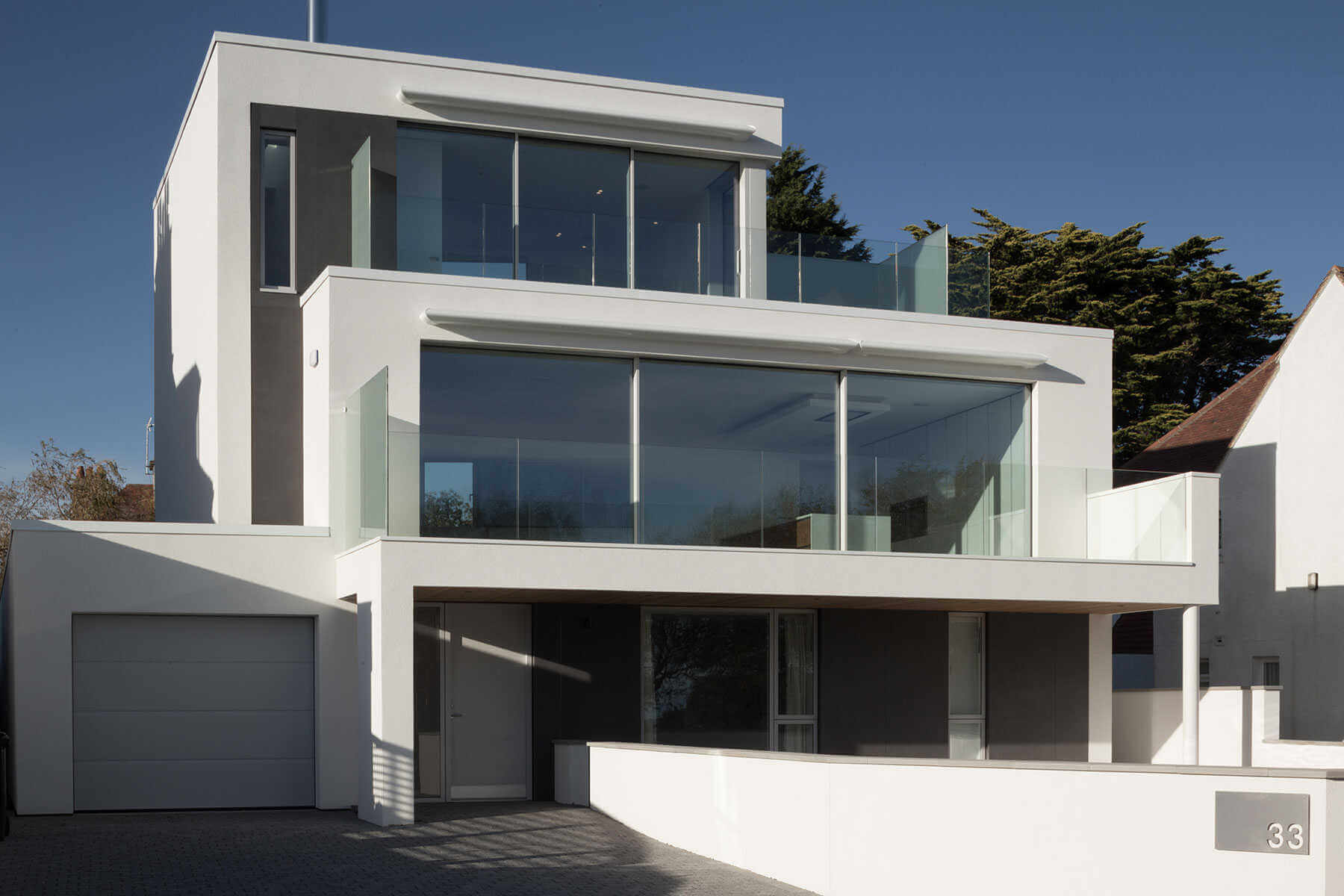 Fachadas De Casas Minimalistas Con Porcel Nico Extrafino | Vivienda Unifamiliar Reino Unido