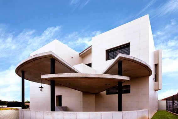 Fachadas Con Porcel Nico Gran Formato | Unifamiliar En Murcia